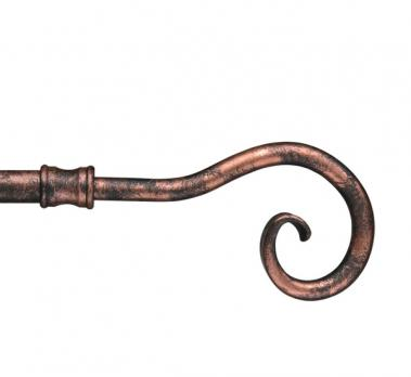 Карниз «Кремона» / наконечник «Крюк» / Цвет: медь античная