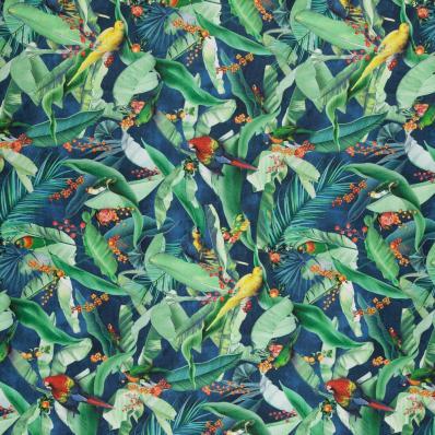 Ткань Zamiflora 01 Navy - Galleria Arben / Галерея Арбен